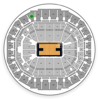 Memphis Grizzlies at FedExForum Section 227 View
