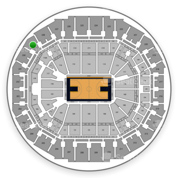 Memphis Grizzlies at FedExForum Section 229 View