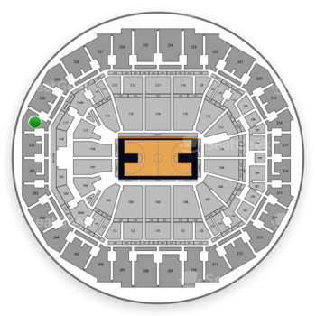 Memphis Grizzlies at FedExForum Section 231 View