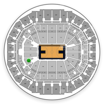 Memphis Grizzlies at FedExForum Section 102 View