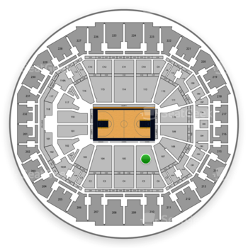 Memphis Grizzlies at FedExForum Section 106 View