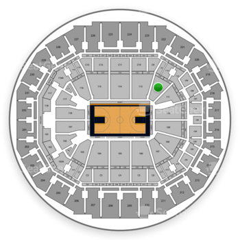 Memphis Grizzlies at FedExForum Section 112 View