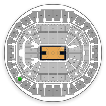 Memphis Grizzlies at FedExForum Section 204 View