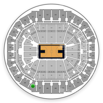 Memphis Grizzlies at FedExForum Section 206 View