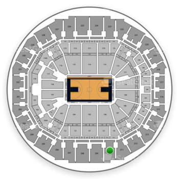 Memphis Grizzlies at FedExForum Section 210 View