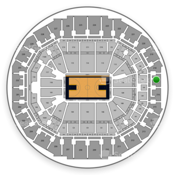 Memphis Grizzlies at FedExForum Section 217 View