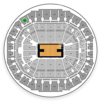 Memphis Grizzlies at FedExForum Section 228 View