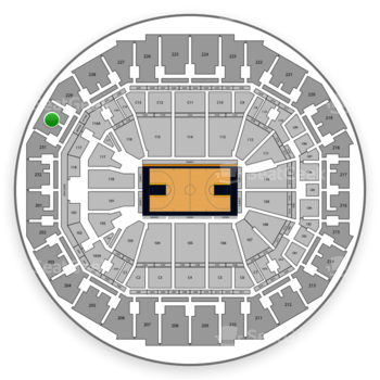 Memphis Grizzlies at FedExForum Section 230 View