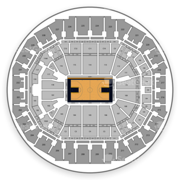 Memphis Grizzlies at FedExForum C 2 View