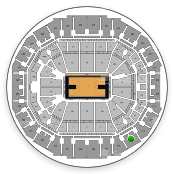 Memphis Grizzlies at FedExForum Section 212 View