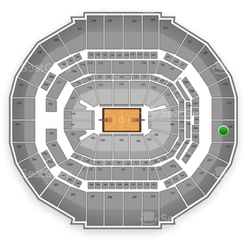 Memphis Grizzlies at FedExForum Section 216 View