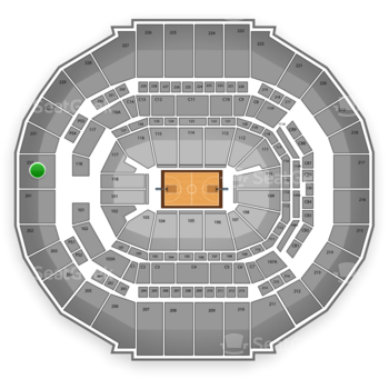 Memphis Grizzlies at FedExForum Section 232 View