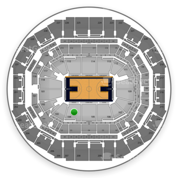Memphis Grizzlies at FedExForum Section 104 View