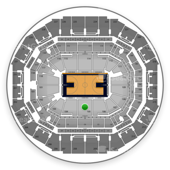 Memphis Grizzlies at FedExForum Section 105 View