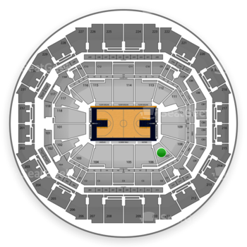 Memphis Grizzlies at FedExForum Section 107 View