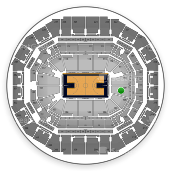 Memphis Grizzlies at FedExForum Section 109 View