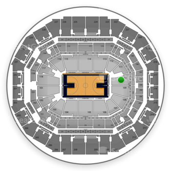 Memphis Grizzlies at FedExForum Section 110 View