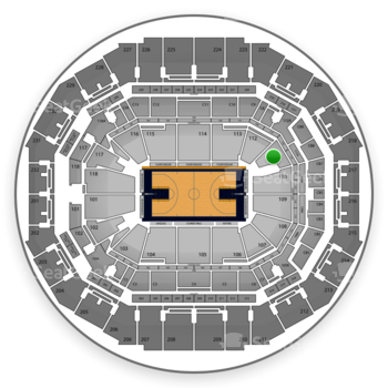 Memphis Grizzlies at FedExForum Section 111 View
