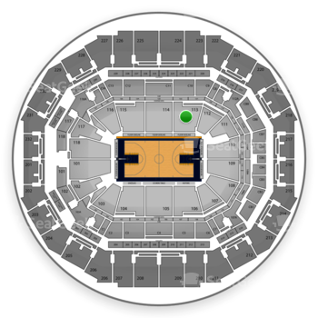 Memphis Grizzlies at FedExForum Section 113 View