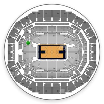 Memphis Grizzlies at FedExForum Section 117 View