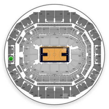 Memphis Grizzlies at FedExForum Section 201 View