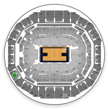 Memphis Grizzlies at FedExForum Section 203 View