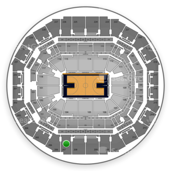 Memphis Grizzlies at FedExForum Section 207 View