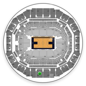 Memphis Grizzlies at FedExForum Section 208 View