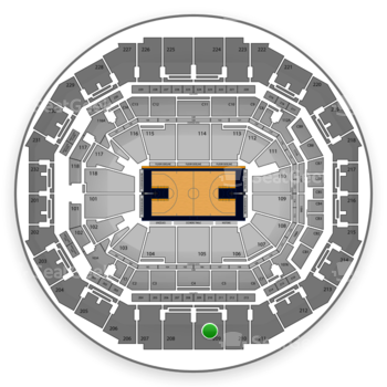 Memphis Grizzlies at FedExForum Section 209 View