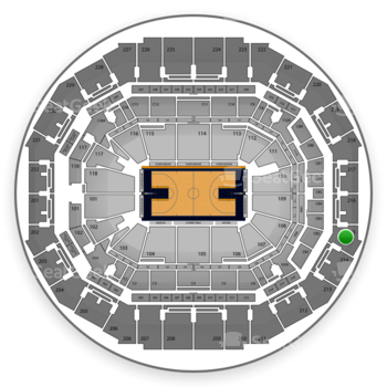 Memphis Grizzlies at FedExForum Section 215 View