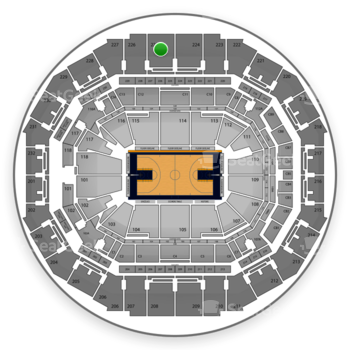 Memphis Grizzlies at FedExForum Section 225 View