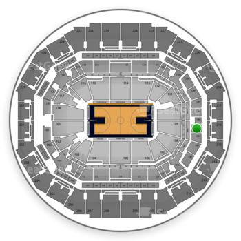 Memphis Grizzlies at FedExForum Club Box 4 View