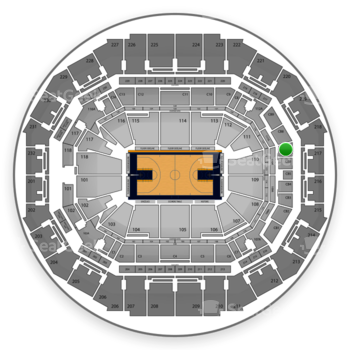 Memphis Grizzlies at FedExForum Club Box 7 View