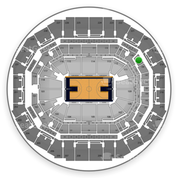Memphis Grizzlies at FedExForum Club Box 9 View