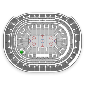 Florida Panthers at BB&T Center Section 107 View
