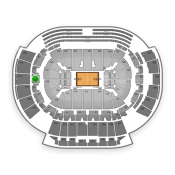 Atlanta Hawks at Philips Arena Section 219 View