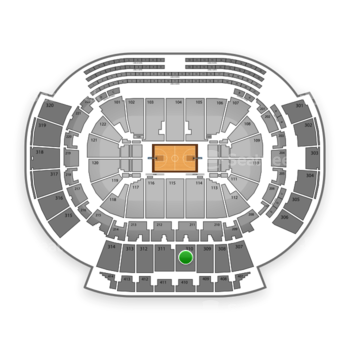 Atlanta Hawks at Philips Arena Section 310 View