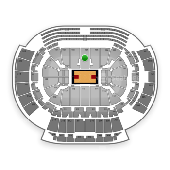 Atlanta Hawks at Philips Arena Section 104 View