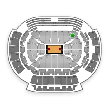 Atlanta Hawks at Philips Arena Section 107 View
