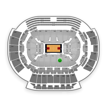 Atlanta Hawks at Philips Arena Section 114 View