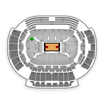 Atlanta Hawks at Philips Arena Section 122 View
