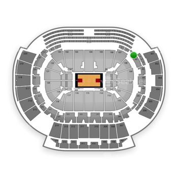 Atlanta Hawks at Philips Arena Section 201 View