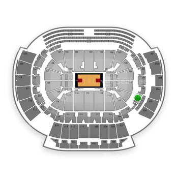 Atlanta Hawks at Philips Arena Section 206 View