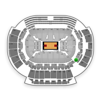 Atlanta Hawks at Philips Arena Section 207 View