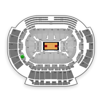 Atlanta Hawks at Philips Arena Section 217 View