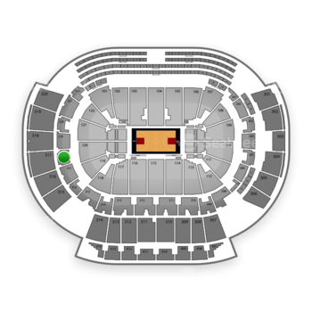 Atlanta Hawks at Philips Arena Section 218 View