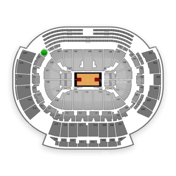 Atlanta Hawks at Philips Arena Section 222 View