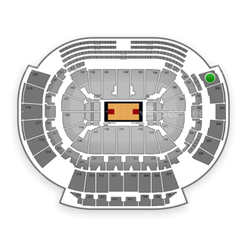 Atlanta Hawks at Philips Arena Section 301 View