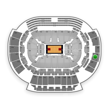 Atlanta Hawks at Philips Arena Section 304 View