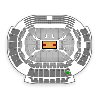 Atlanta Hawks at Philips Arena Section 307 View